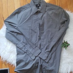 H&M Slim Fit Gray Shirt